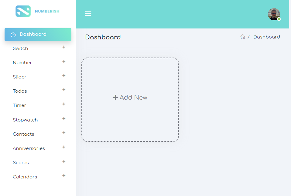 numberish dashboard